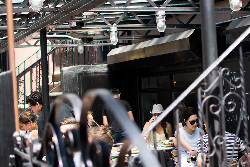 outdoor brunch at Cafe Orlin