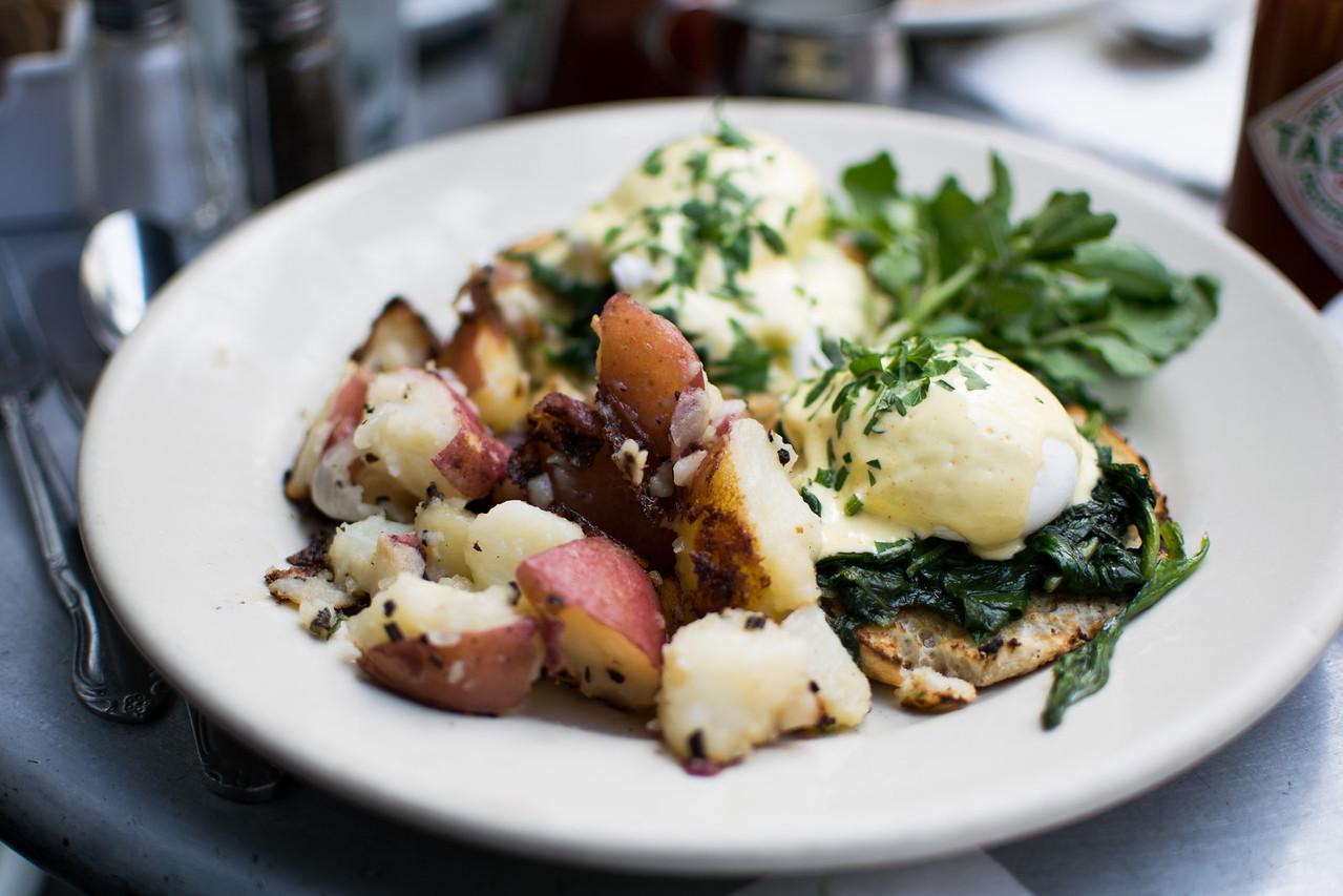 eggs florentine at Cafe Orlin