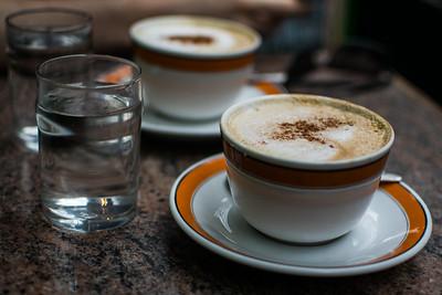 Cappuccinos at Caffe Reggio