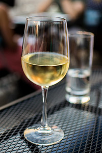 White wine glass at the Tangled Vine