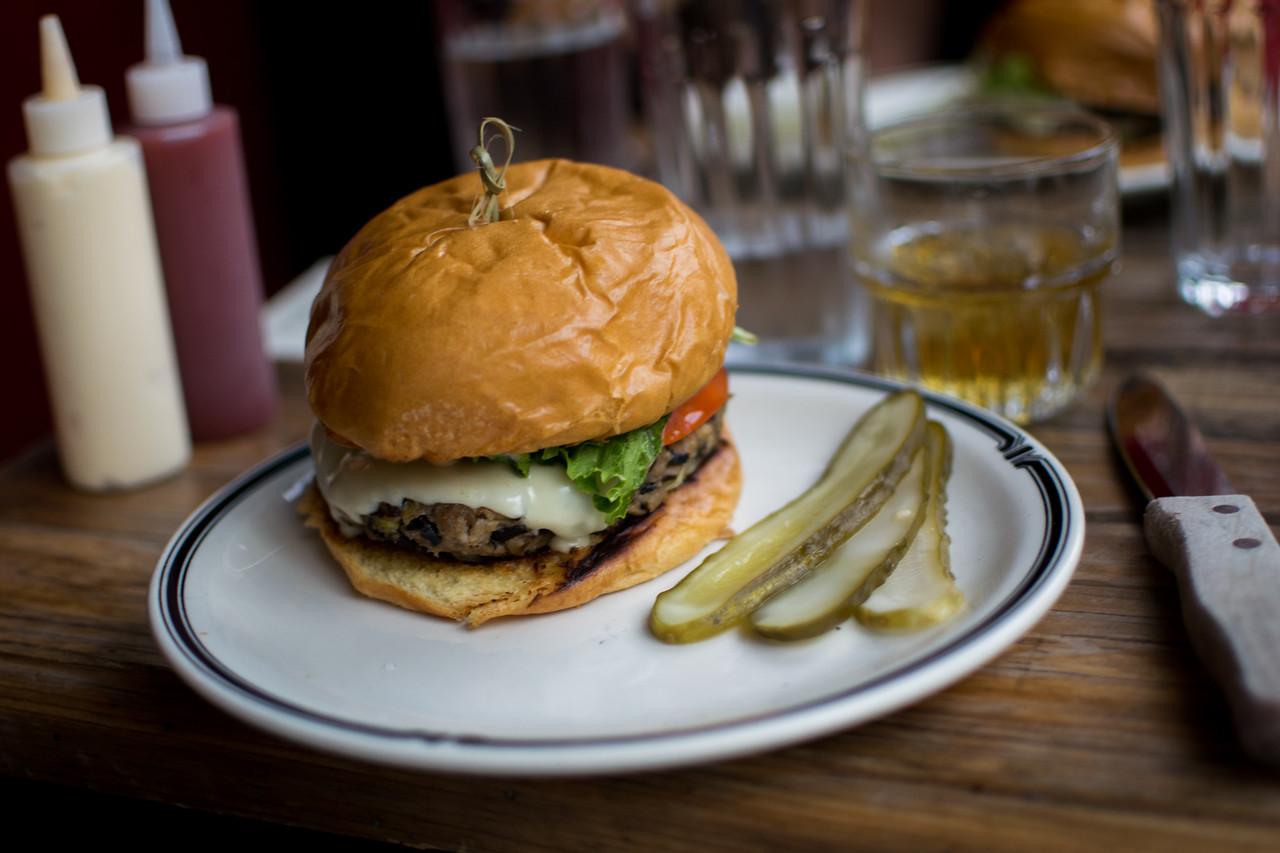 Veggie burger at Joe's