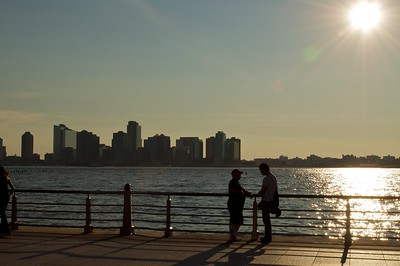 Two People on the Shore of the Hudson River