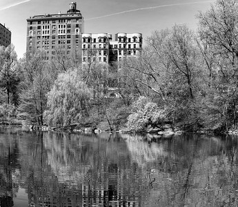 The 'Pool' in Early Spring _ bw