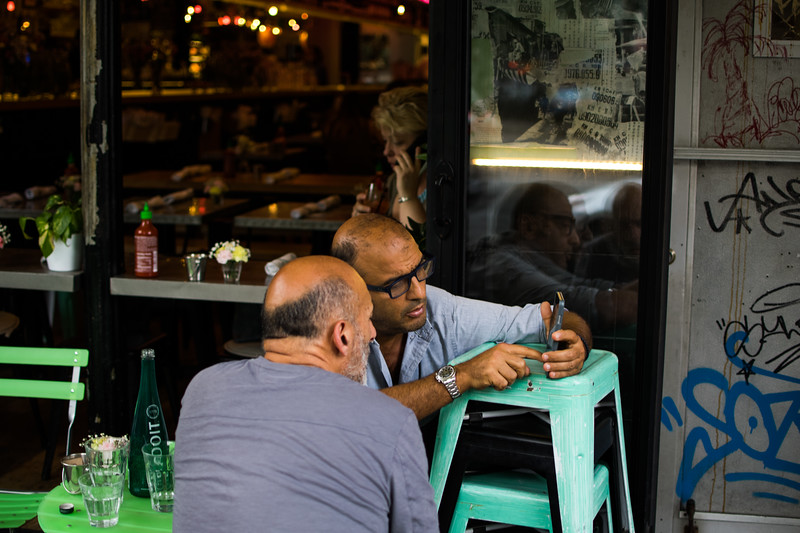 Customers at a Soho restaurant