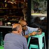 Customers at a Soho restaurant