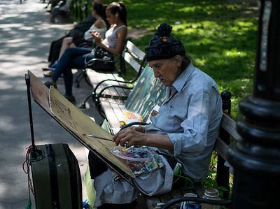 Painter in Washington Square Park