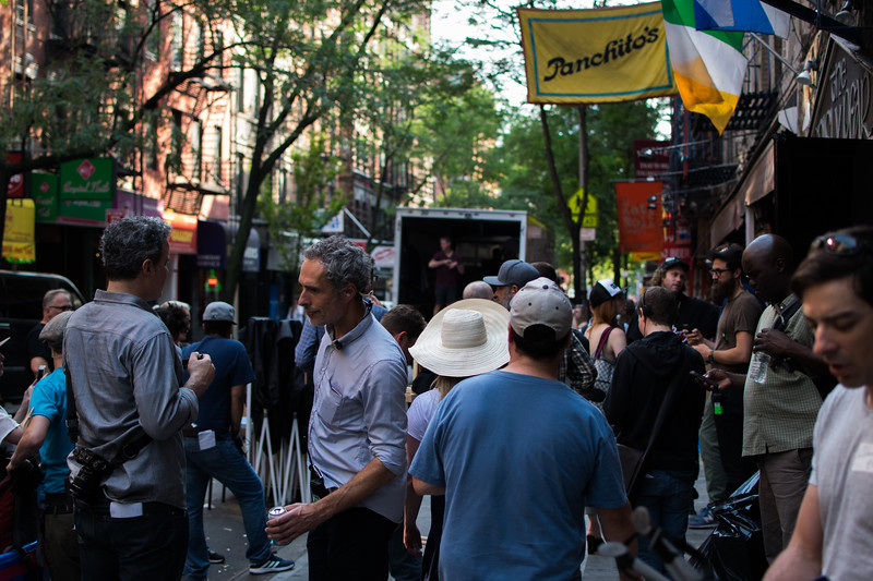 Film crew on MacDougal St.