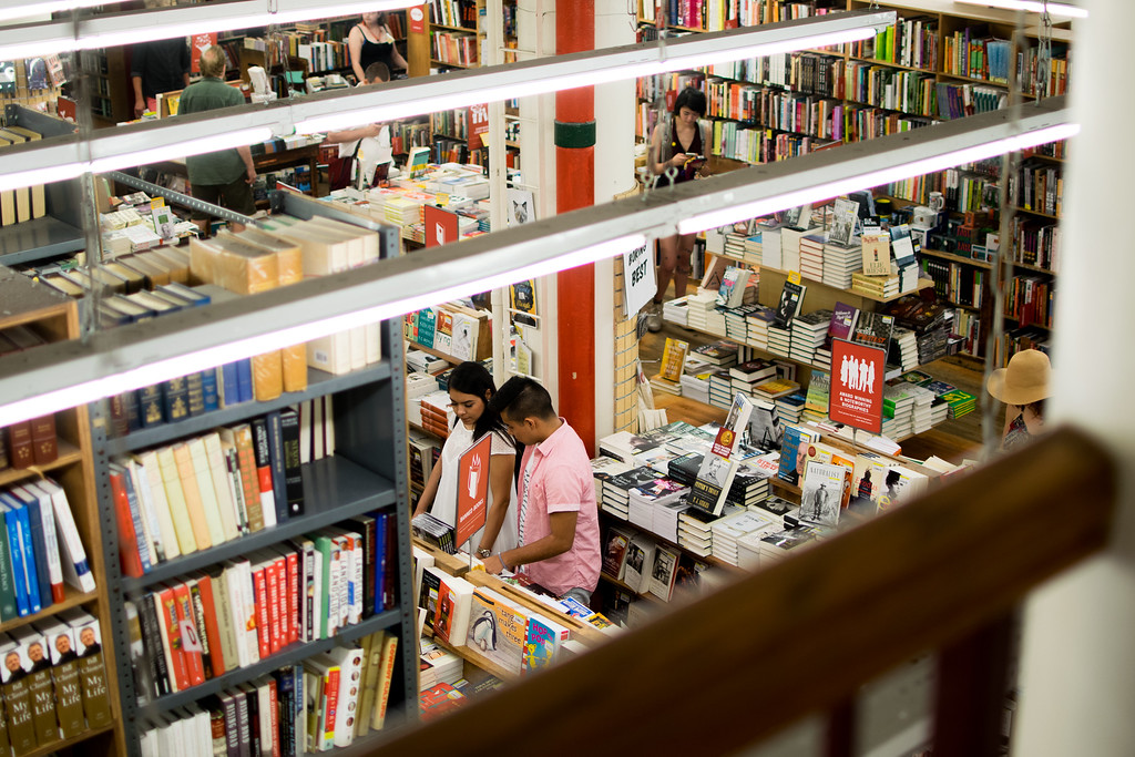 First floor of Strand Bookstore, seen from above