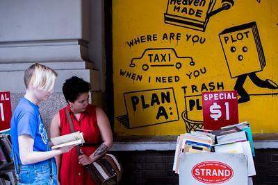 Used books outside Strand