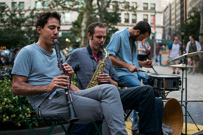 Jazz trio in Madison Square Park