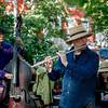 Jazz quartet in Washington Square Park