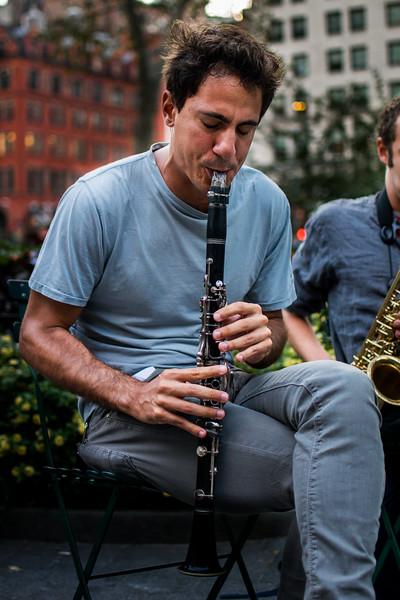 Jazz trio in Madison Square Park