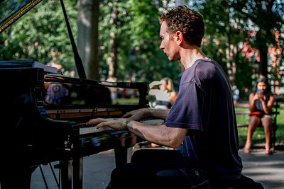 Pianist in Washington Square Park