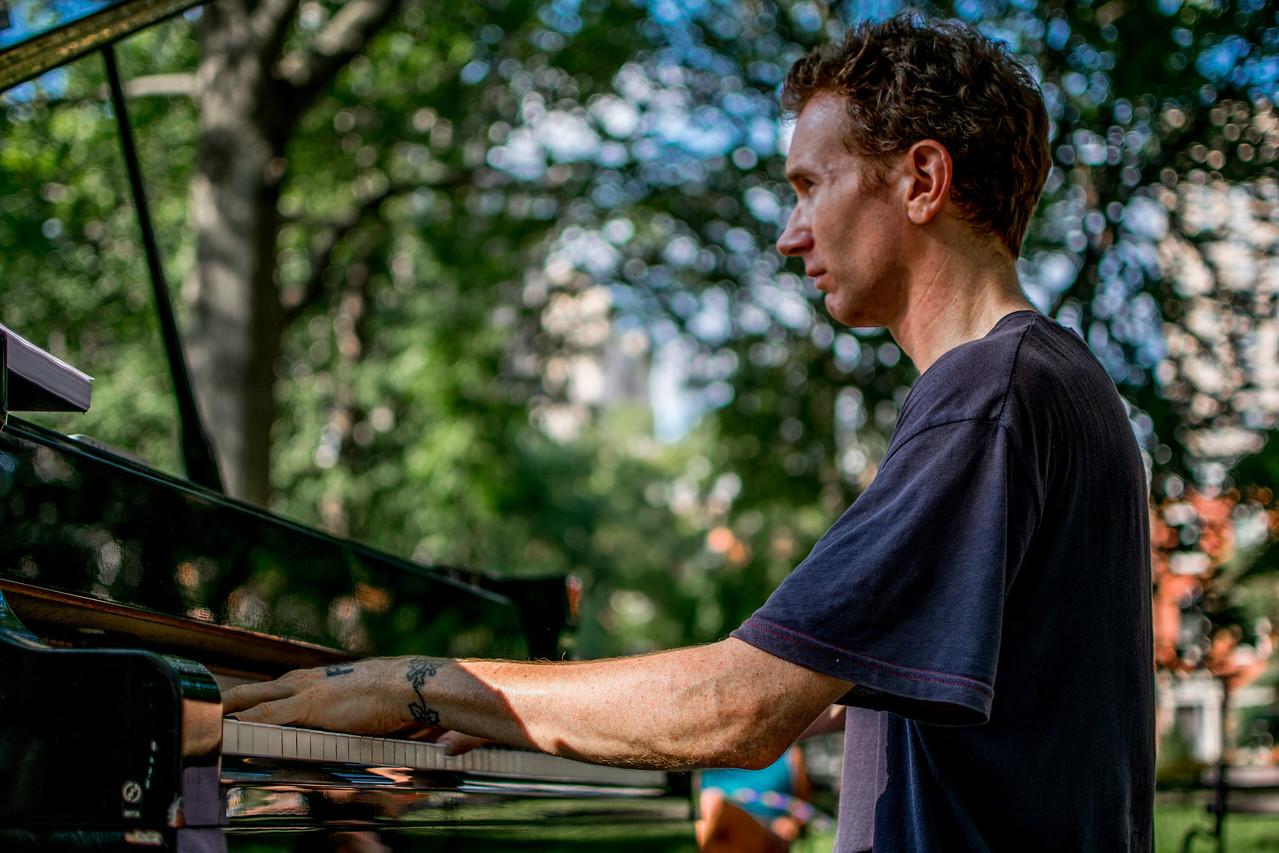 Pianist in Washington Square Park