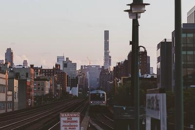 Dusk at the Harlem-125th St. Station
