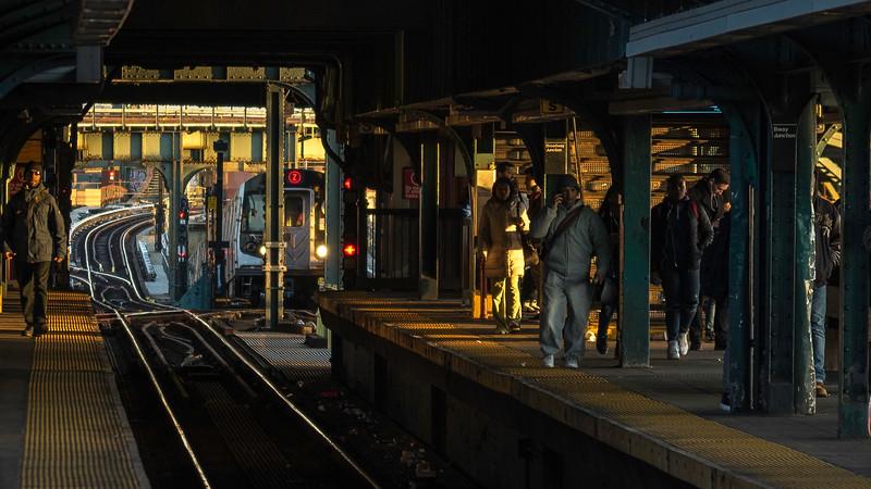 Sunset / Z train 2017