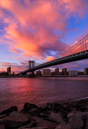 Last Light over Manhattan Bridge