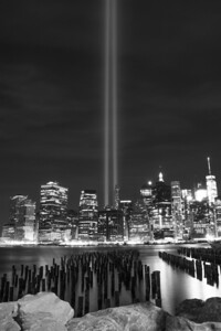 Tribute in Light (Black & white)