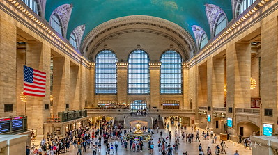 Grand Central Station--my grand father suffered a heart attack here in 1955. I never knew him