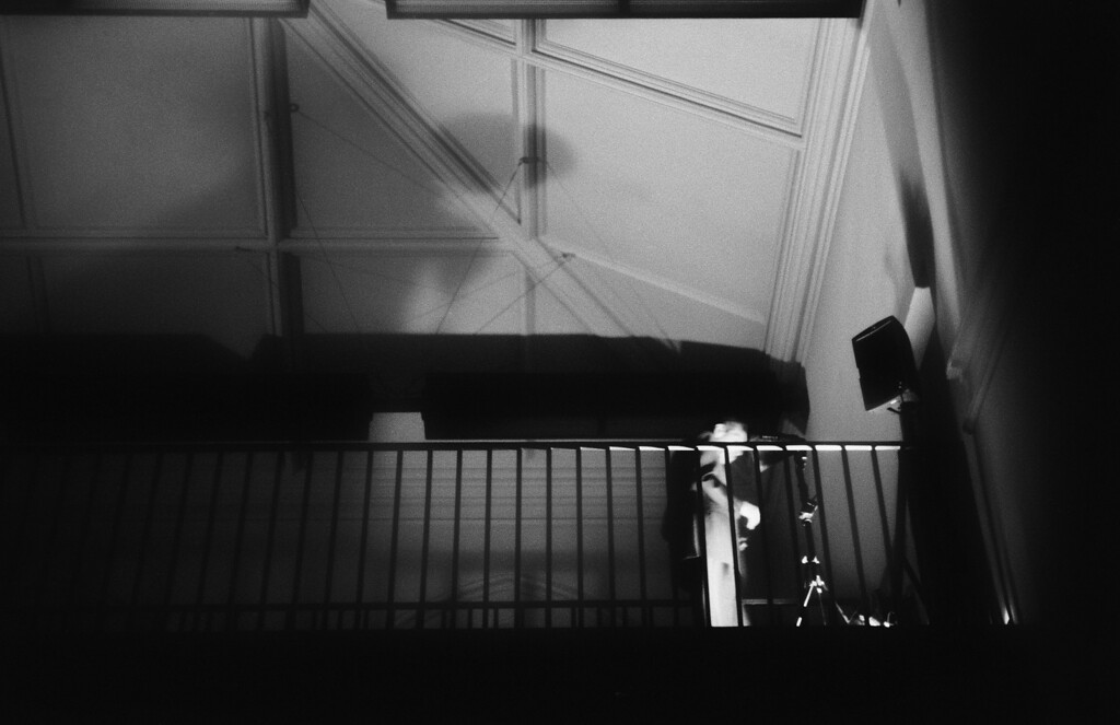 NYC, West Village, September 2011, Tri-X 400, iiif Summar<br /> <br /> Writer Nick Tosches departs after concluding a public reading at the Jefferson Market Library. Thanks Steve Alberts for the invite!