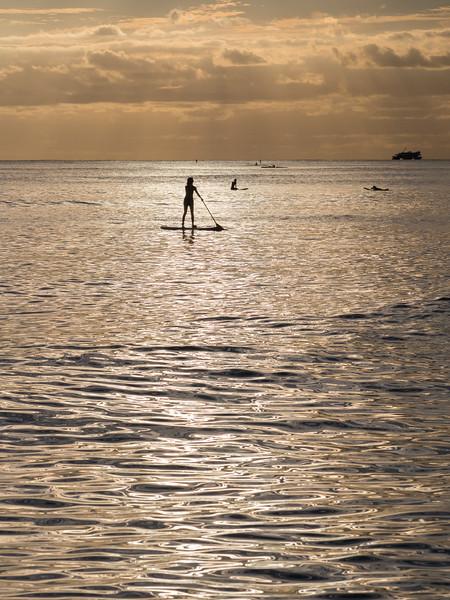 Water Sports Near Sunset, Honolulu HI
