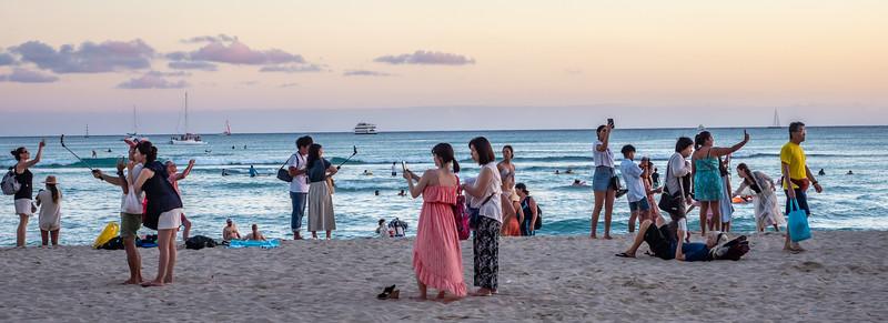 Shooting the Sunset over Waikiki