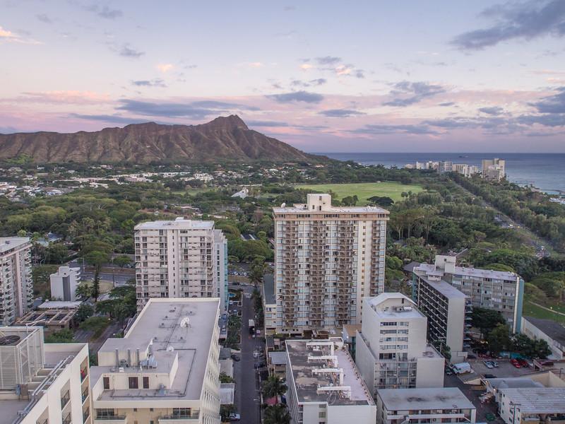 Honolulu Scene with Pastel Sky