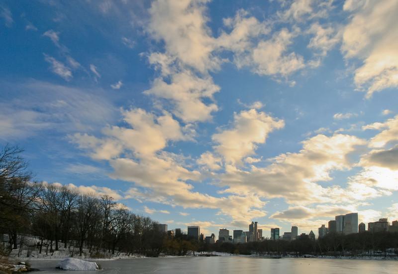 Wintery View of NYC Skyline, NY