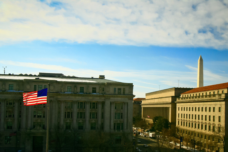 Flag, Monument, Commerce Department Building