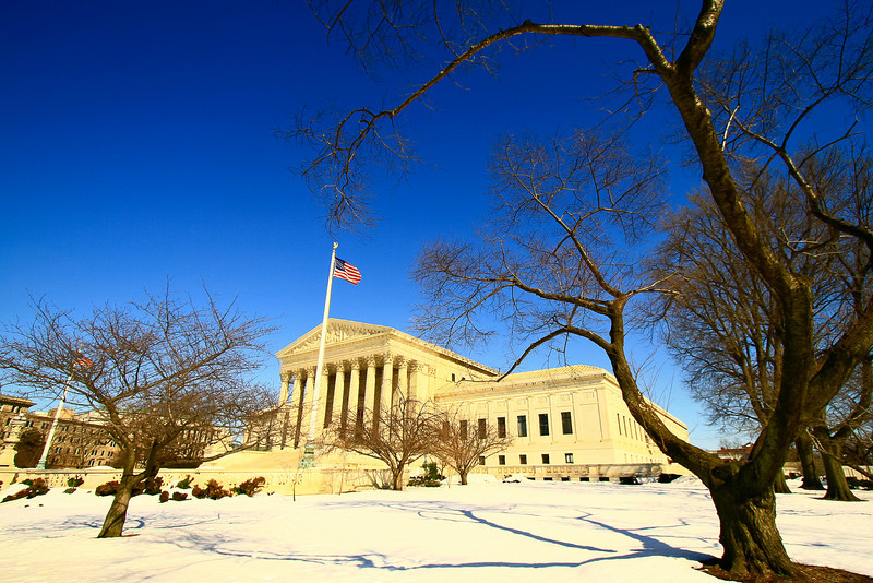 Supreme Court Building on a Cold Day