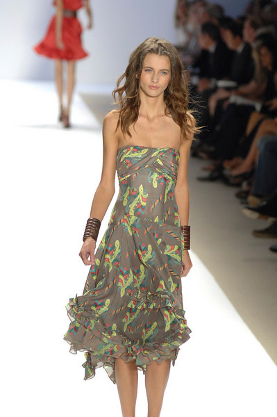 Sep 10, 2008 - New York, NY, USA - NANETTE LEPORE  fashion show at the 2009 Spring & Summer NY Fashion, held at Bryant Park: (Credit Image: © Chris Kralik/KEYSTONE Press)