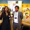 Telugu Movie world Premiere c/o Kancharapalem was held in Manhatten as a part of NYIFF on May 9th 2018, Movie producer Dr. Paruchuri V.Praveena, and Writer & Director of the film G.R. Venkatesh, also known as Maha speaking to the media...pic Mohammed Jaffer-SnapsIndia