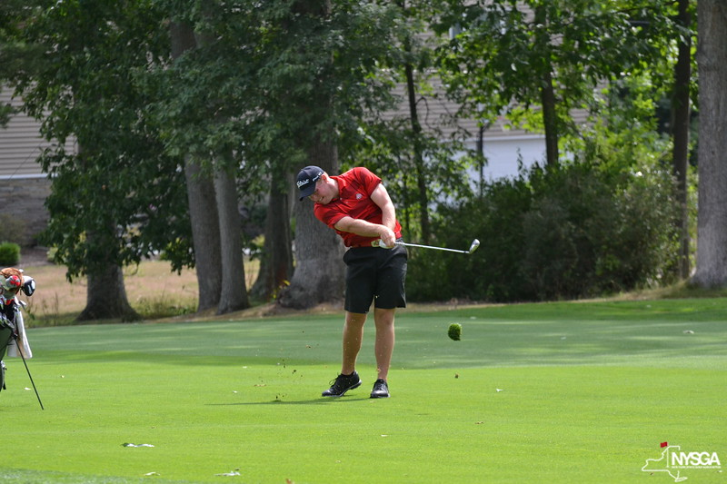 Jamie Sindelar plays during the second round of the 2012 New York State Amateur Championship.