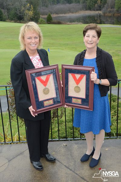 Dottie Pepper & Polly Sparling (Willie Turnesa's Daughter) with NYSGA Hall of Fame Awards
