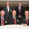 Members of the NYSGA Hall of Fame Committee: (Top) Andrew Hickey (non-voting, staff), John Blain (Seven Oaks), (Bottom) - Doug Vergith (Chautaqua CC), Dick Galvin (Ontario GC), Joe Enright (Lancaster CC)