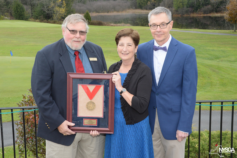 NYSGA President Warren Winslow with Polly & Reed Sparling (WIllie Turnesa's Daughter & Son-in-law)