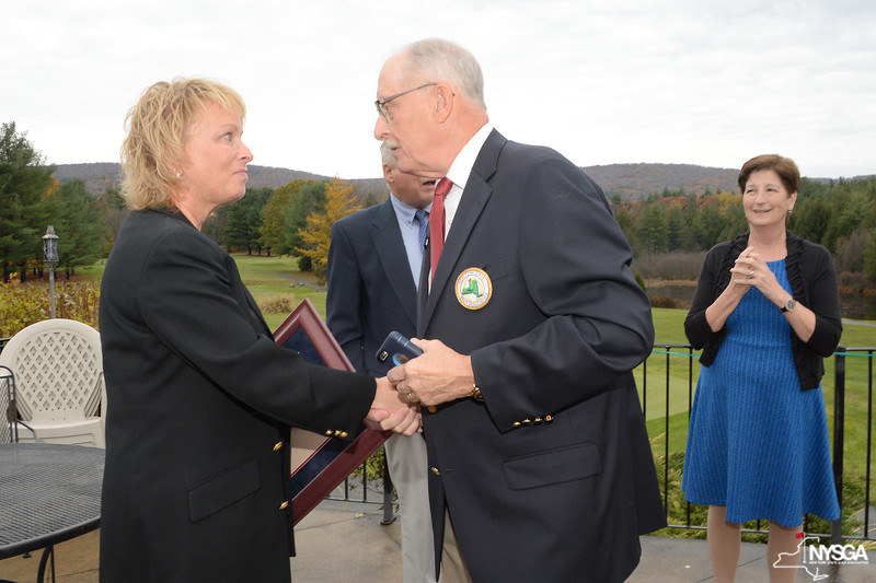 Dottie Pepper and Joe Enright, NYSGA Hall of Fame Committee Chairman