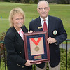 Dottie Pepper with NYSGA Hall of Fame Committee Chairman, Joe Enright of Lancaster CC