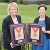 Dottie Pepper and Polly Sparling (Willie Turnesa's Daughter) with NYSGA Hall of Fame Awards