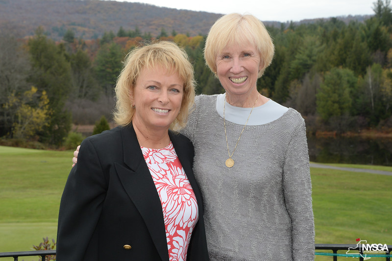 Dottie Pepper and NYSGA Committee Member Sheila Vergith of Chautauqua CC