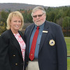 Dottie Pepper with NYSGA President Warren Winslow of Western Turnpike GC