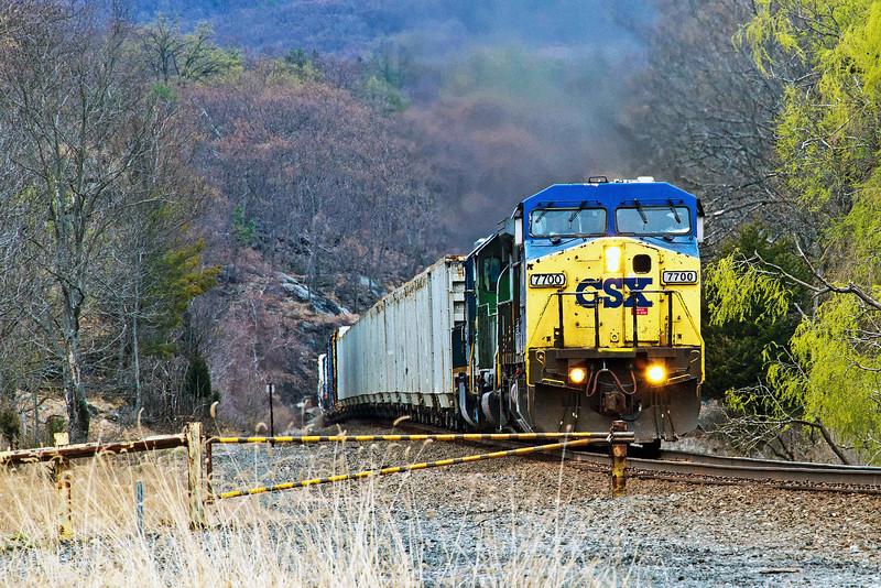 A CSX train heading south