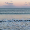 Sunset waves at Orewa beach