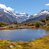 Mountain tarn at The Summit, Fiordland