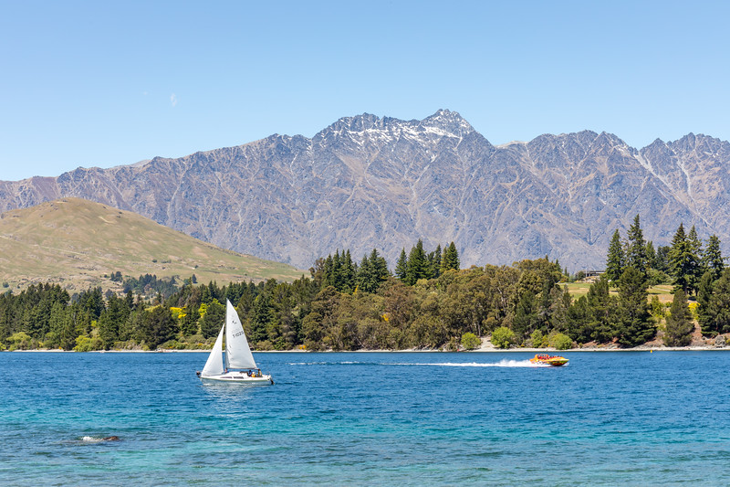 The Remarkables with Lake Wakatipu in the foreground