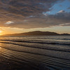 Sunset reflections at Kapiti coast