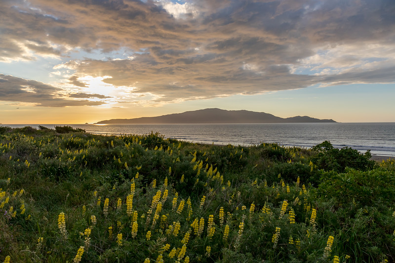 Sunset over Kapiti coast