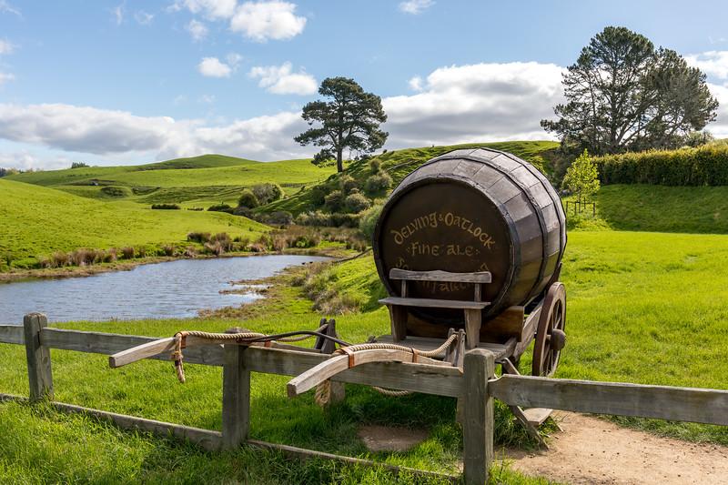 Ale barrel at Hobbiton
