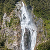 Waterfall at Milford Sound, Fiordland