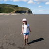 Black sand on Karekare beach NZ